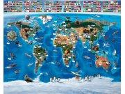 3D foto tapeta Walltastic Karta svijeta 41851 | 305x244 cm Foto tapete