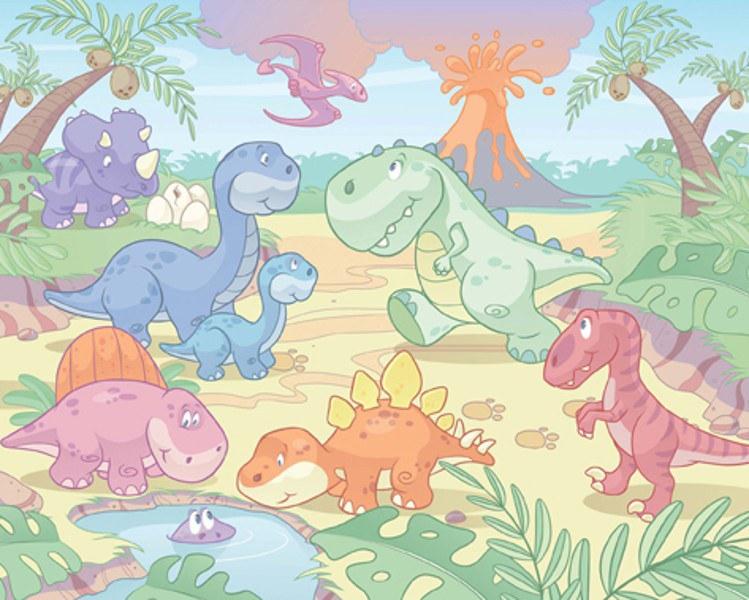 3D foto tapeta Walltastic Baby Dino 40618 | 305x244 cm - Foto tapete