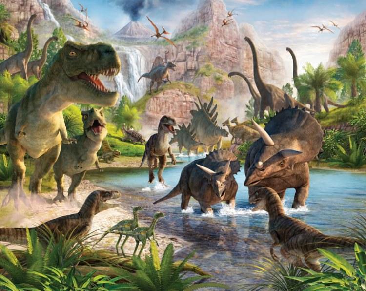 3D foto tapeta Walltastic Dinosauri 41745   305x244 cm - Foto tapete