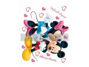 Dječje naljepnice Mickey i Minnie Love DK-1753, veličina 42,5 x 65 cm Naljepnice za dječju sobu
