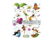 Dječje naljepnice Fairies i leptiri DK-0883, 85x65 cm Naljepnice za dječju sobu
