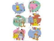 Dječje naljepnice Winnie Pooh and friends DK-1770, 85x65 cm Naljepnice za dječju sobu