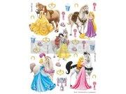 Dječje naljepnice Princeze i konji DK-1773, 85x65 cm Naljepnice za dječju sobu