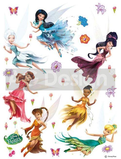 Dječje naljepnice Fairies i vile DK-1769, 85x65 cm - Naljepnice za dječju sobu