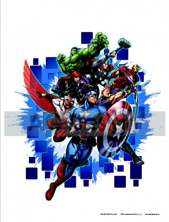 Dječje naljepnice Avengers nepobjedivi DK-1715, 85x65 cm - Naljepnice za dječju sobu