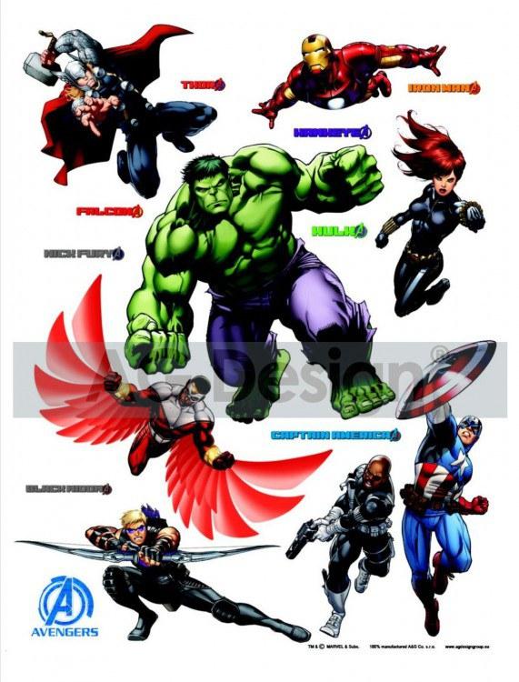 Dječje naljepnice Hulk DK-1719, 85x65 cm