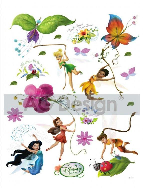 Dječje naljepnice Fairies i leptiri DK-0883, 85x65 cm - Naljepnice za dječju sobu