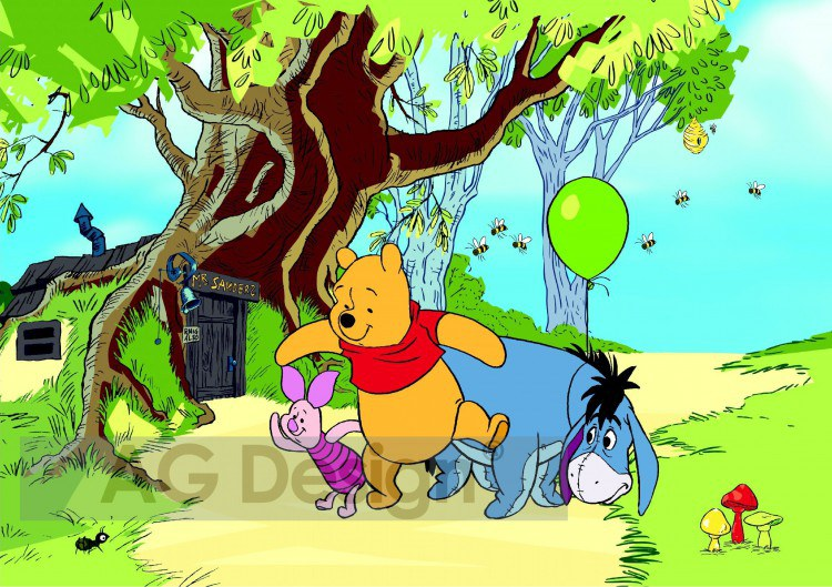 Foto tapeta AG Winnie Pooh FTDS-0247 | 360x254 cm - Foto tapete