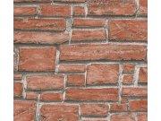 Vinil tapeta za zid kameni zid crvena 6621-18 Na skladištu