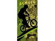 Flis foto tapeta Dimex Zeleni biciklist S-429 | 110x220 cm Foto tapete