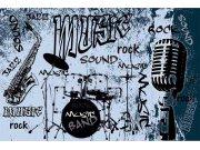 Flis foto tapeta Dimex Plava glazba XL-399 | 330x220 cm Foto tapete