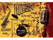 Flis foto tapeta Dimex Narančasta glazba XL-400 | 330x220 cm Foto tapete
