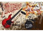 Flis foto tapeta Dimex Crvena gitara XL-401 | 330x220 cm Foto tapete