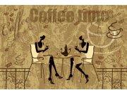 Flis foto tapeta Dimex Vrijeme za kavu XL-403 | 330x220 cm Foto tapete