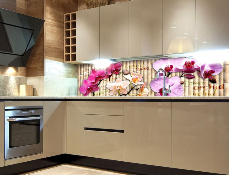 Samoljepljiva foto tapeta za kuhinje Orhideja KI-180-026, 180 x 60 cm - Foto tapete