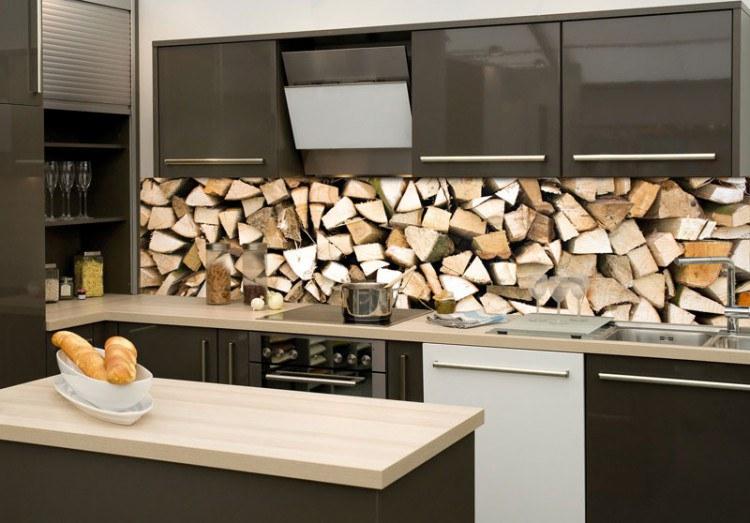 Samoljepljiva foto tapeta za kuhinje Drvene grede KI-260-031, 260x60 cm - Foto tapete