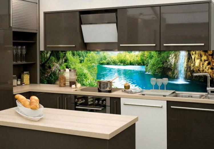 Samoljepljiva foto tapeta za kuhinje Rijeka KI-180-034, 180x60 cm - Foto tapete