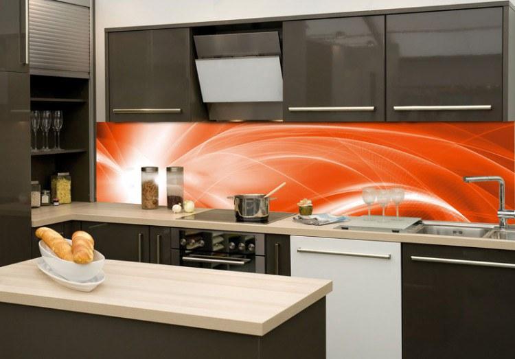 Samoljepljiva foto tapeta za kuhinje Narančasta apstrakcija KI-260-037, 260x60 cm - Foto tapete
