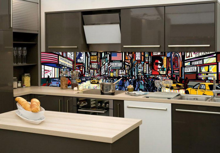 Samoljepljiva foto tapeta za kuhinje Ulice NY KI-180-040, 180x60 cm - Foto tapete