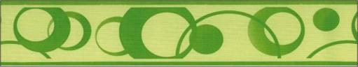 Samoljepljiva bordura Zeleni krugovi SB02-336, 5 cm x 10 m - Samoljepljive bordure