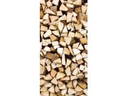 Samoljepljiva foto tapeta za vrata DL024 Timber logs, 95x210 cm Foto tapete