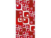 Samoljepljiva foto tapeta za vrata DL042 Red squares, 95x210 cm Foto tapete