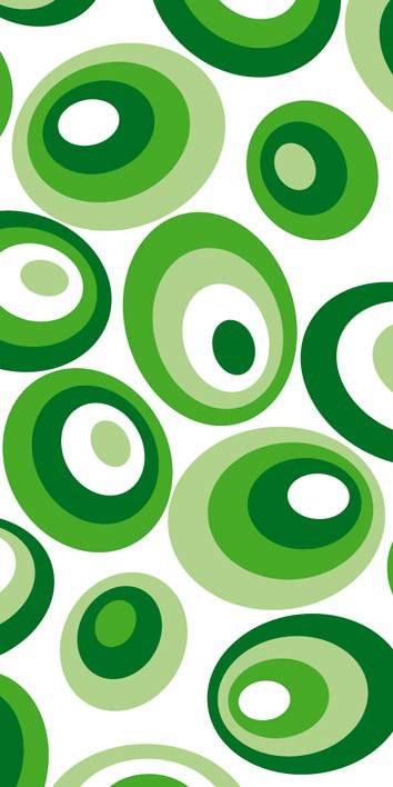 Samoljepljiva foto tapeta za vrata DL044 Green ovals, 95x210 cm - Foto tapete