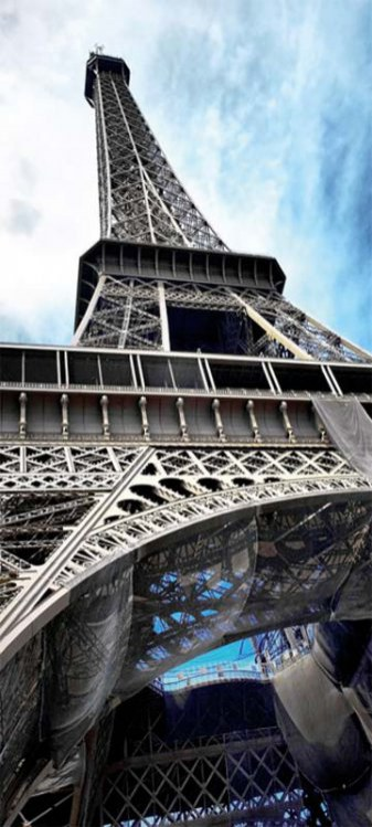 Samoljepljiva foto tapeta za vrata DL049 Eiffel tower, 95x210 cm - Foto tapete
