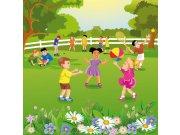 Flis foto tapeta Dimex Djeca u vrtu L-286   220x220 cm Foto tapete