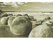 Flis foto tapeta Dimex Moeraki šedá XL-181 | 330x220 cm Foto tapete