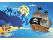 Flis foto tapeta Dimex Pirátská loď XL-266 | 330x220 cm Foto tapete