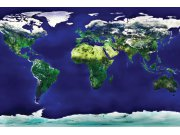 Flis foto tapeta Dimex Karta svijeta XL-149   330x220 cm Foto tapete
