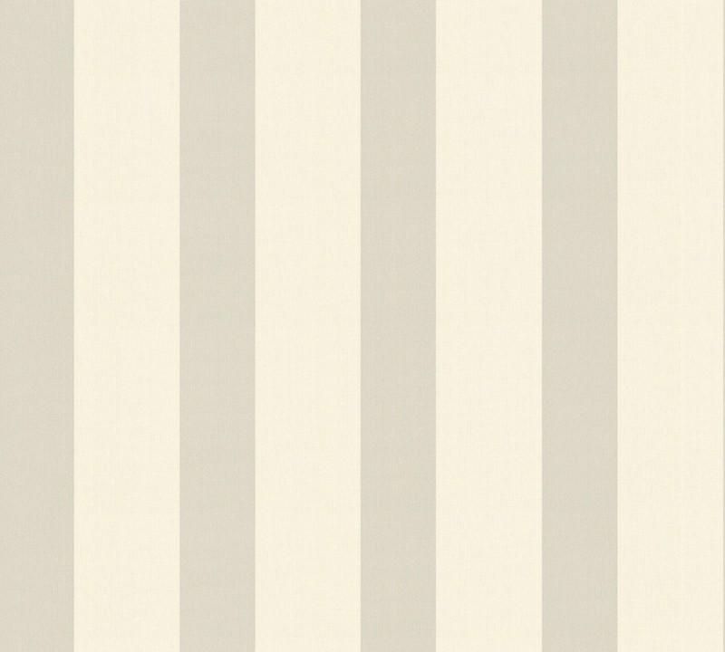 Flis tapeta za zid Safina sivo kremaste pruge 33324-2 - AS Crétaion