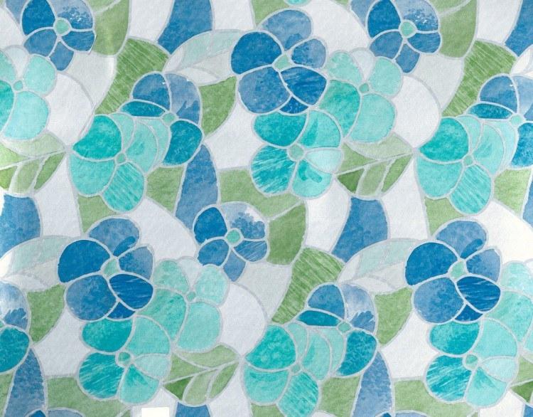 Samoljepljiva folija transparentna lisboa plava 200-2665 d-c-fix, širina 45 cm - Za staklo