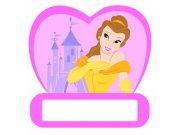 Dječje naljepnice Princeze D48312, 12x12 cm Naljepnice za dječju sobu