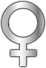 Ogledalo Ženski simbol MA657, 20 x 30 cm - Ogledala