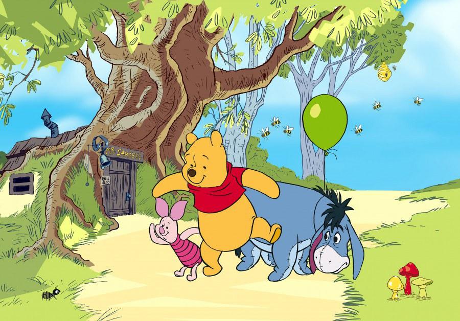 Flis foto tapeta AG Winnie Pooh FTDNXXL-5058 | 360x270 cm - Foto tapete