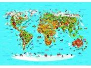 Flis foto tapeta AG Karta svijeta FTNS-2441 | 360x270 cm Foto tapete