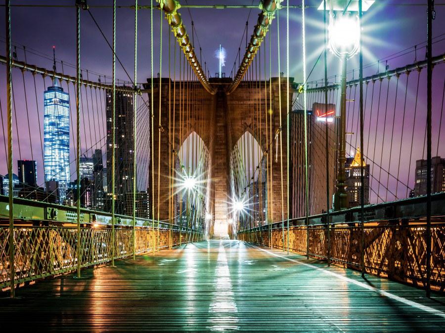 Flis foto tapeta AG Brooklyn Bridge FTNXXL-2439 | 360x270 cm - Foto tapete