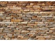 Flis foto tapeta AG Smeđi kameni zid FTNS-2481 | 360x270 cm Foto tapete