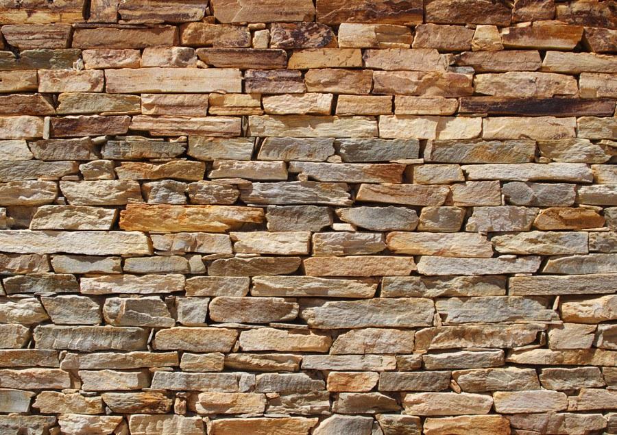 Flis foto tapeta AG Smeđi kameni zid FTNS-2481 | 360x270 cm - Foto tapete