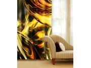 Zavjesa Zlatna apstrakcija CU-140-025, 140x245 cm Foto zavjese