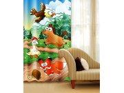 Zavjesa Životinje iz šume CU-140-030, 140x245 cm Foto zavjese