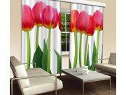 Zavjesa Crveni tulipani CU-280-015, 280x245 cm Foto zavjese