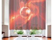 Zavjesa Crvena apstrakcija VO-140-027, 140x120 cm Zavjese