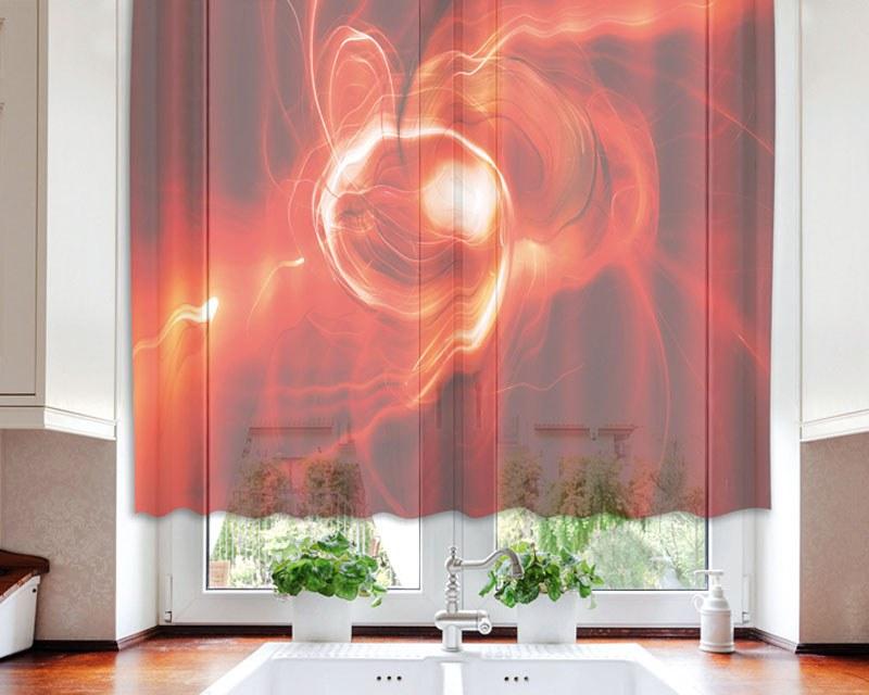 Zavjesa Red Abstract VO-140-027, 140x120 cm