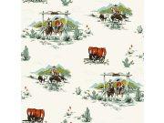 Dječja papirnata tapeta za zid Everybody bonjour 128717, 0,53 x 10,05 m Rasch