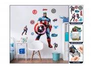 Samolepicí dekorace Walltastic Kapitán Amerika 44272 Dekorace Avengers