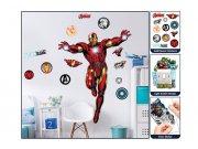 Dječja naljepnica za zid Iron Man 44296 Naljepnice za dječju sobu