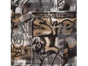 Dječja papirnata tapeta za zid graffiti 291551 Rasch
